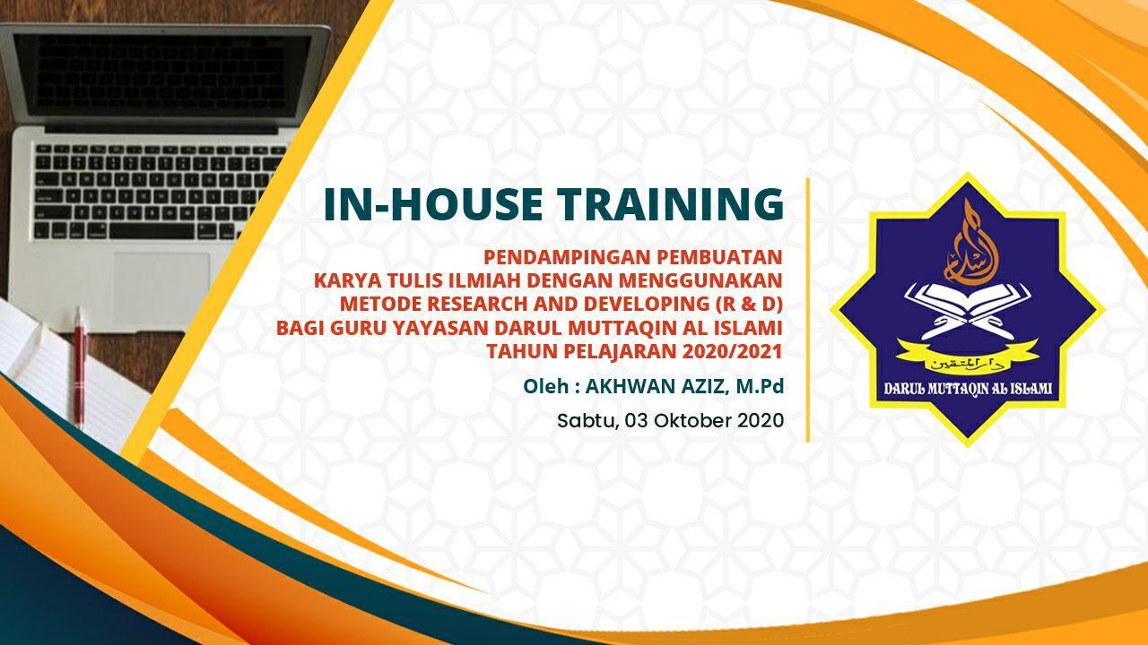 In House Training Pendampingan Karya Tulis Ilmiah Santri PPDM